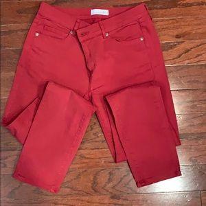Ann Taylor Loft, red skinny jeans